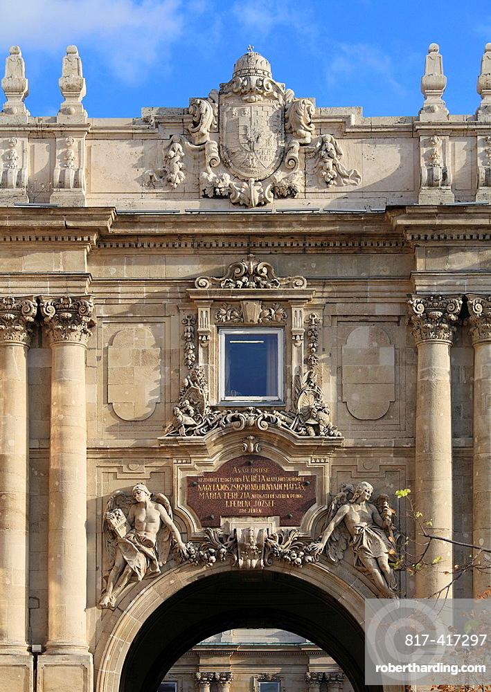 Hungary, Budapest, Royal Palace, gate,