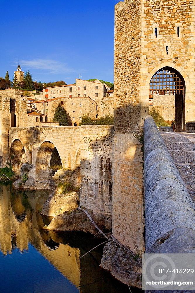 Medieval Bridge -11st Century, Besalu, La Garrotxa, Girona, Spain