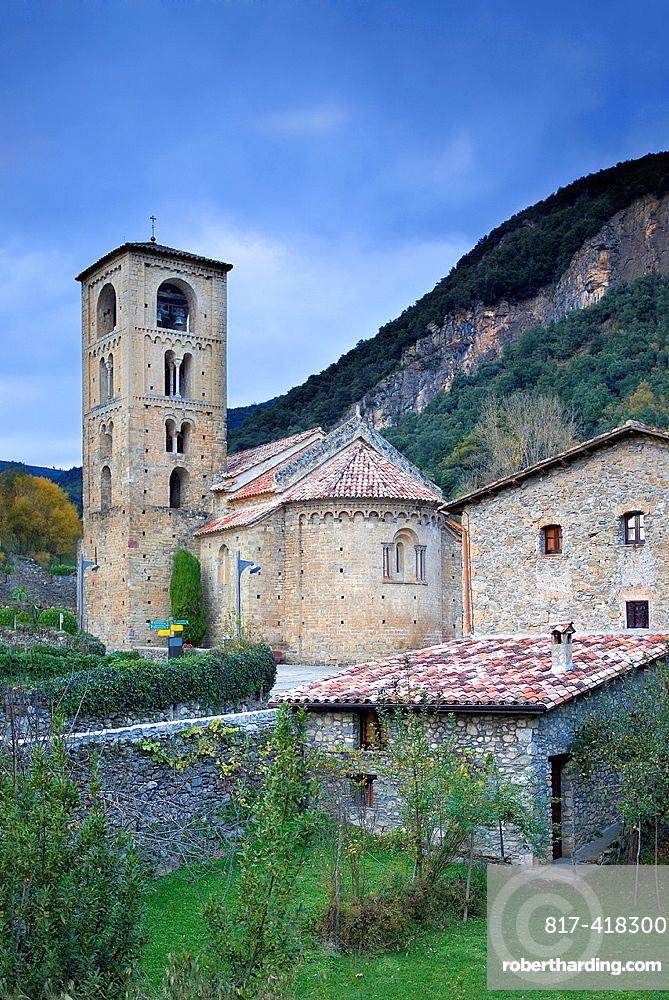 Romanesque church of Sant Cristofol s  XII, Beget  Garrotxa, Girona, Catalonia, Spain