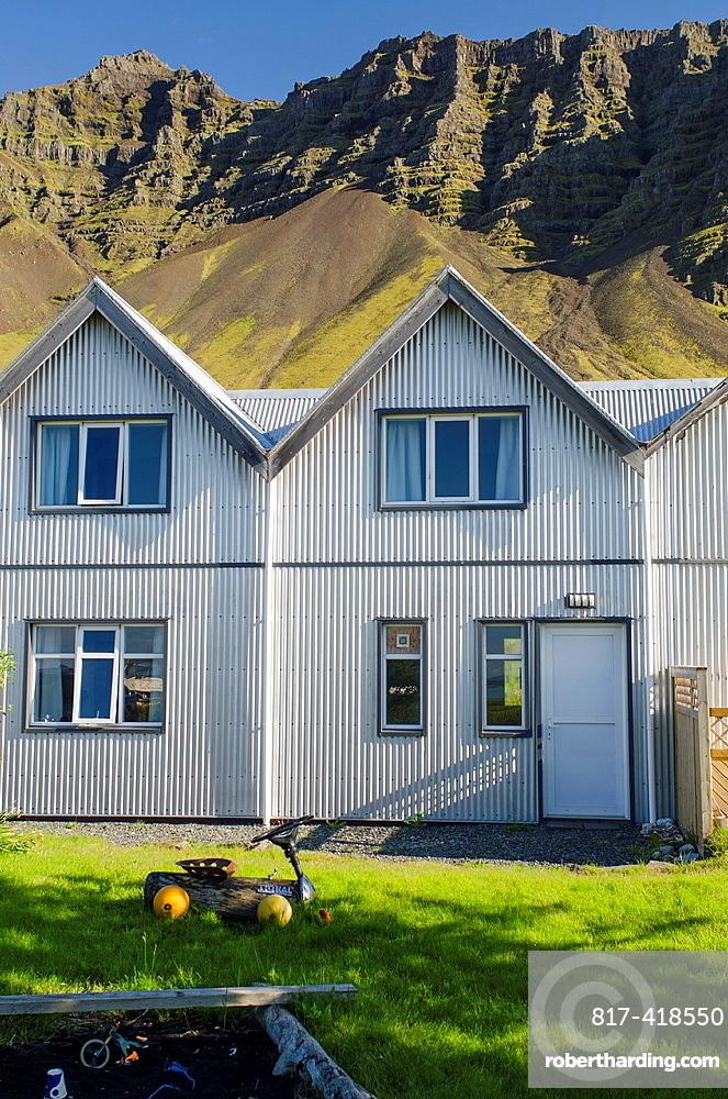 House in Gardur village near of Jokulsarsom lagoon, Iceland