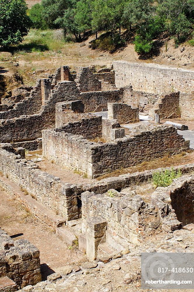 Mirobriga roman city ruins at Santiago do Cacem, Portugal