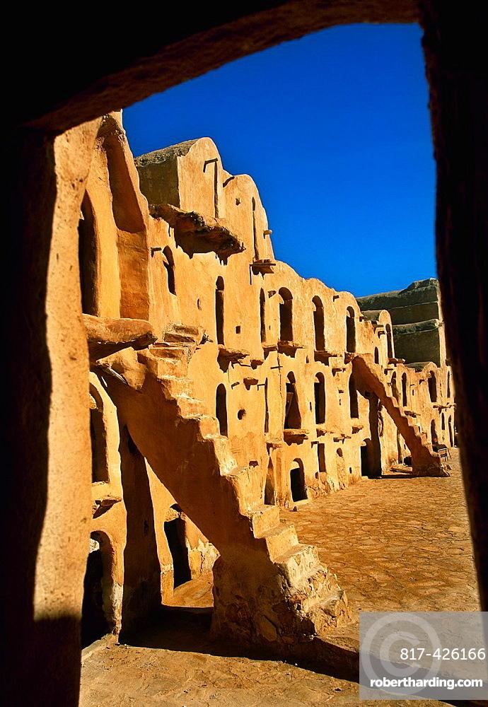 Ksar Ouled Soltane Gorfhas from 11th-13th century Berber buildings Tataoine Southern Tunisia.