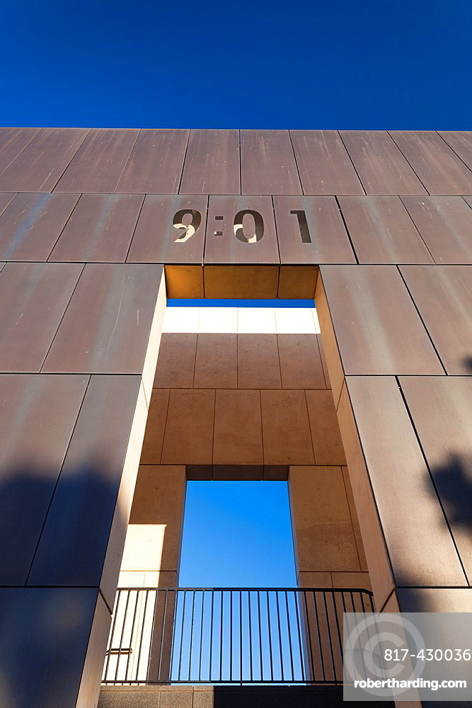 USA, Oklahoma, Oklahoma City, Oklahoma City National Memorial to the victims of the Alfred P  Murrah Federal Building Bombing on April 19, 1995, East Entrance