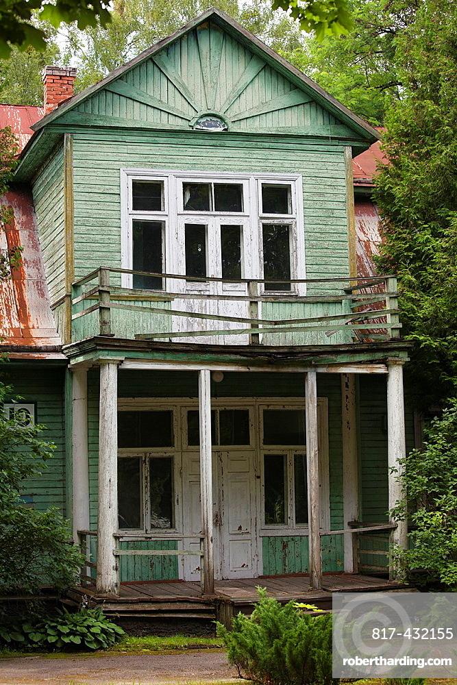 Druskininkai-Druskienniki A famous sanatorium town  Lithuania  An old abandoned curehouse