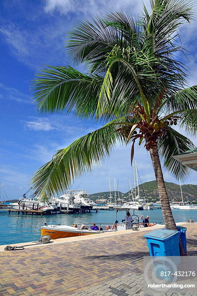 Boat Harbor Philipsburg St Martin Maarten Caribbean Island Netherland Antilles