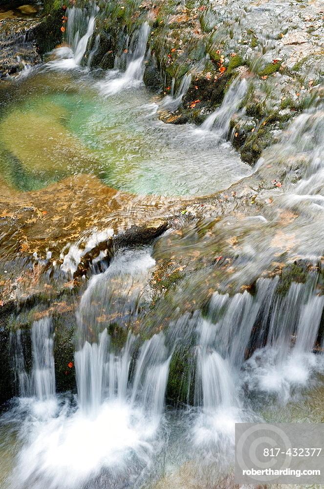 Waterfall in Arazas river, Ordesa National Park, Pyrenees, Huesca, Aragon, Spain