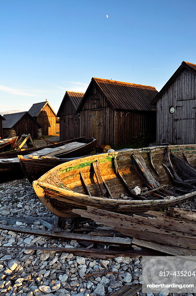 helgumannen is an old fisherman's village located in Gotland, Sweden This little village is made of al fisherman's house and old fisherman's boat