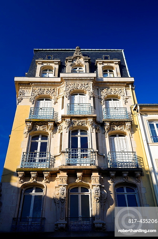 Typical french building and architecture in Epinal city center