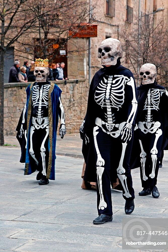 Skeletons Performance, Easter Week, Manresa, Catalonia, Spain.