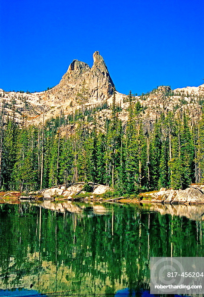 Sawtooth Mountains, The Finger Of Fate in the Sawtooth Wilderness high in the Sawtooth Mountains in central Idaho.