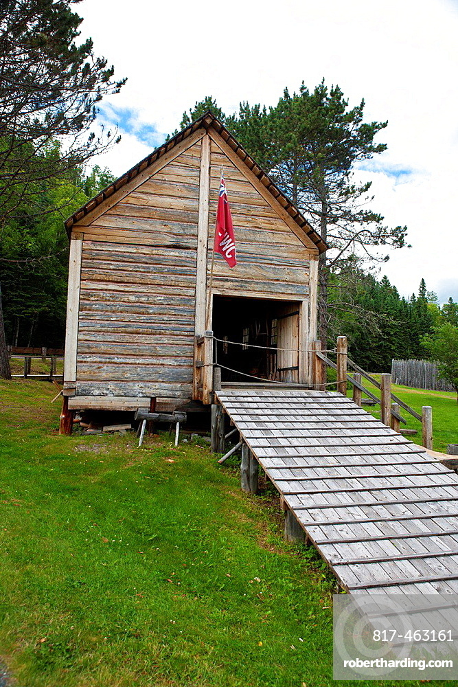 North West Company Warehouse, Grand Portage National Monument, Grand Portage, Minnesota, United States of America.