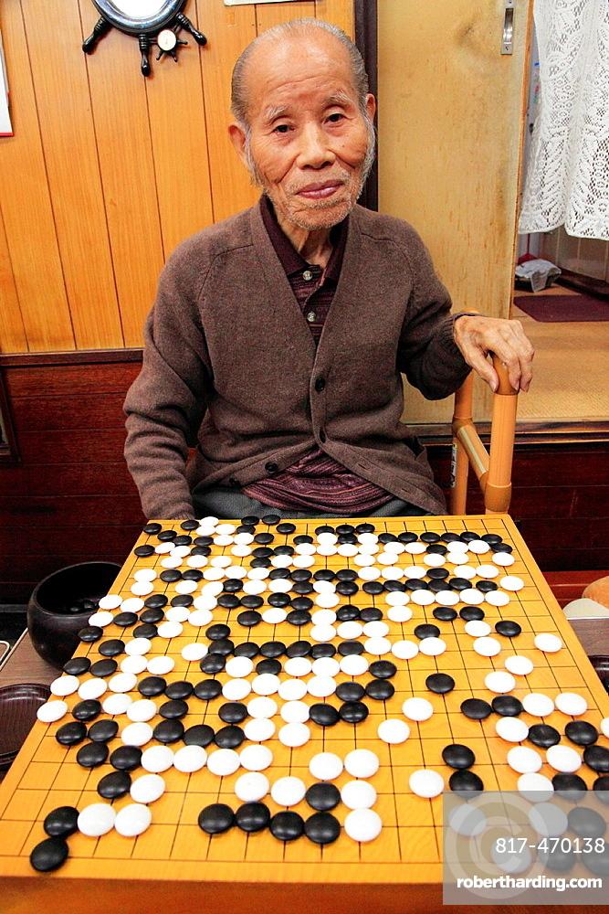 Japan, Kyoto, go player, strategic board game,.