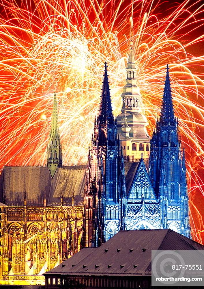 Saint Vitus cathedral, Prague, Czech Republic.