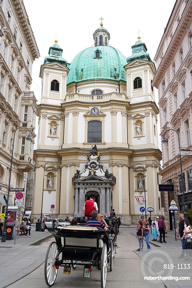 The Peterskirche, St. Peter's Church is a Baroque Roman Catholic parish church in Vienna, Austria, Europe