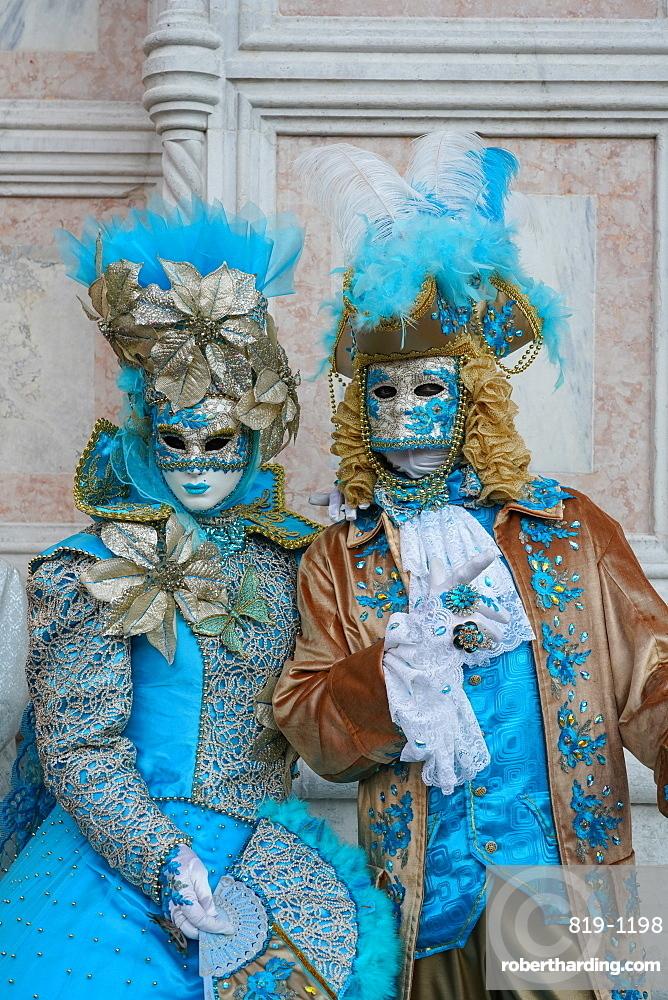 Masks at the Venice Carnival, Venice, Veneto, Italy, Europe