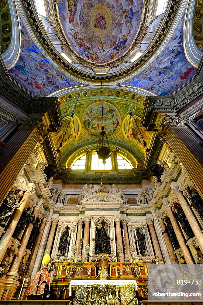 Royal Chapel of the Treasure of San Gennaro, Frescoes of the Dome by Domenichino, Naples Cathedral, Naples, Campania, Italy, Europe