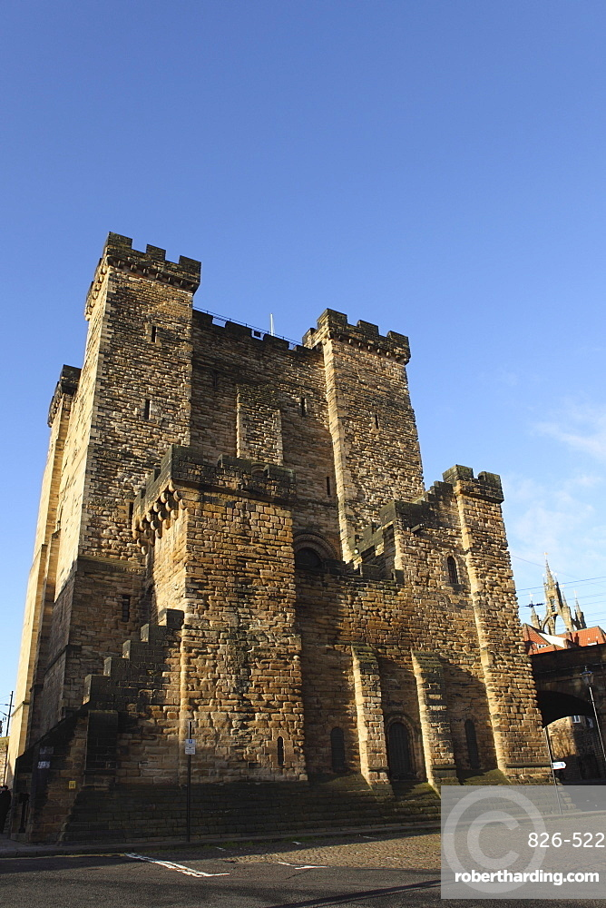 Norman era castle keep, built by King Henry II from 1168 to 1178, Newcastle-upon-Tyne, Tyne and Wear, England, United Kingdom, Europe