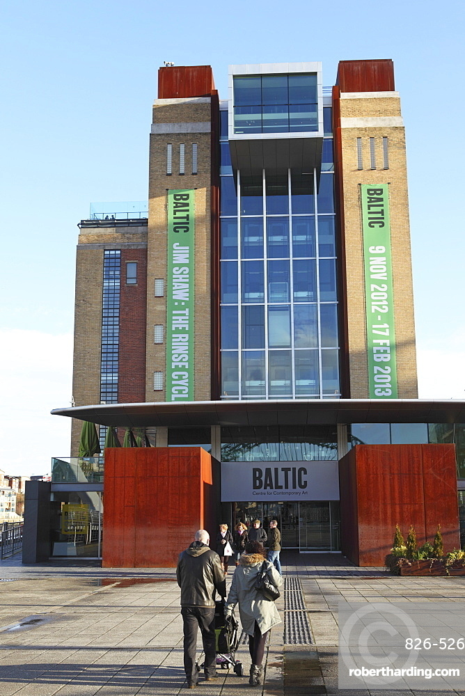 Visitors enter the Baltic Centre for Contemporary Art, Gateshead Quays, Gateshead, Tyne and Wear, England, United Kingdom, Europe