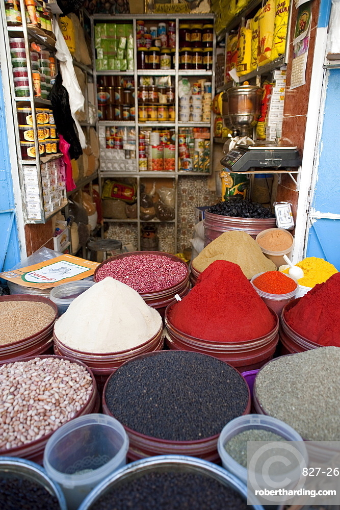 Grocery, street market, Medina, Fez, Morocco, North Africa, Africa