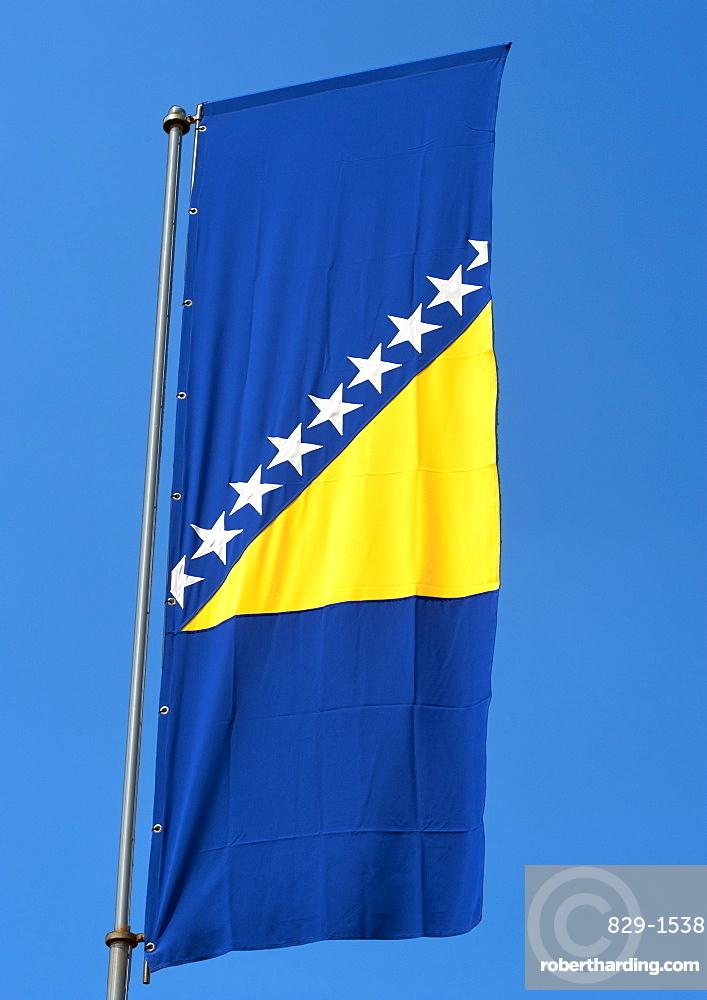The flag of Bosnia and Herzegovina, Europe