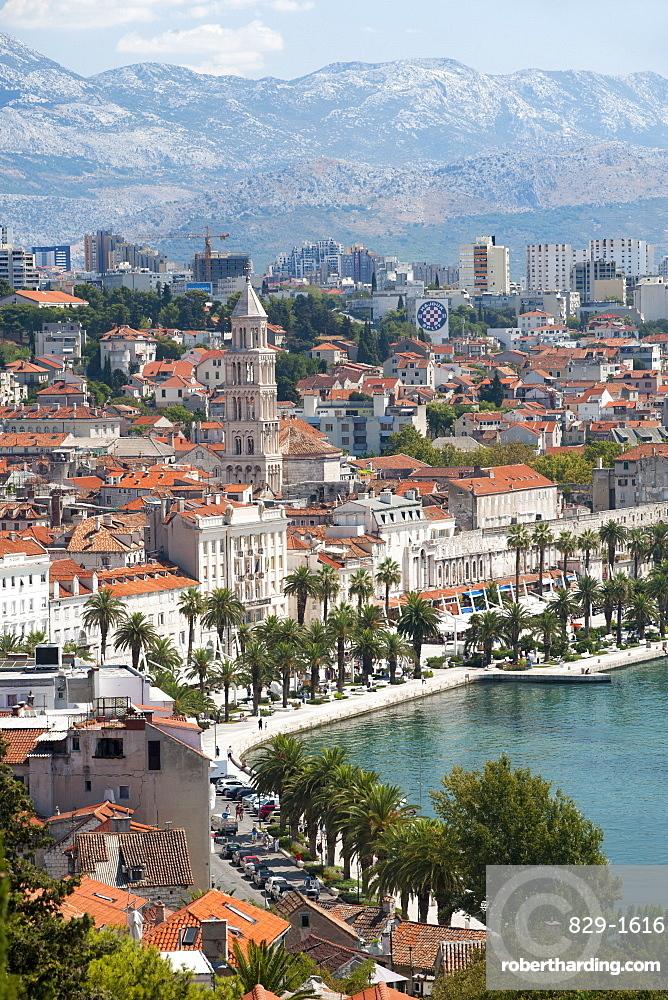View of the city of Split, Adriatic Coast, Croatia, Europe