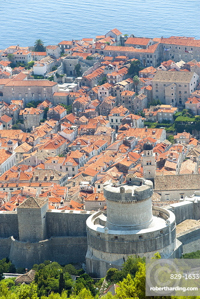 Minceta Tower, part of the Walls of Dubrovnik surrounding the old town, Dubrovnik, UNESCO World Heritage Site, Adriatic Coast, Croatia, Europe