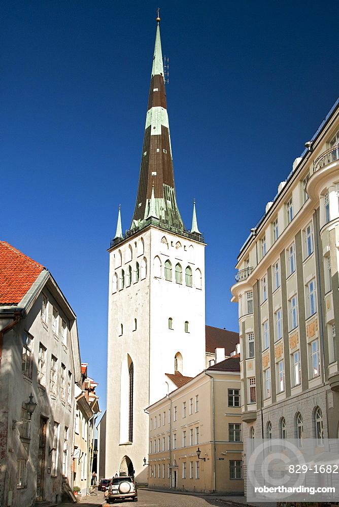 St. Olav's Church (Oleviste kirik) in Tallinn, Estonia, Baltic States, Europe