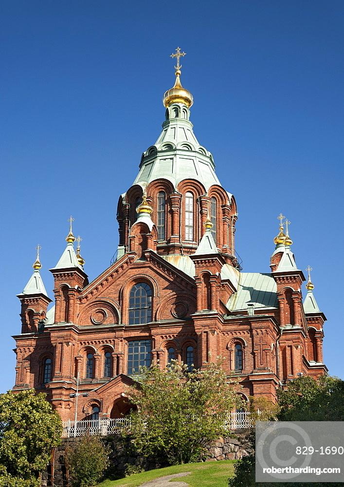 Uspenski cathedral in Helsinki, Finland, Scandinavia, Europe