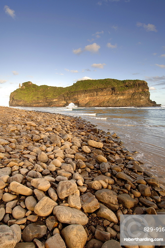 The geological coastal formation known as 'Hole in the Wall' on the wild coast in a region of South Africa's Eastern Cape Province formerly known as the Transkei.