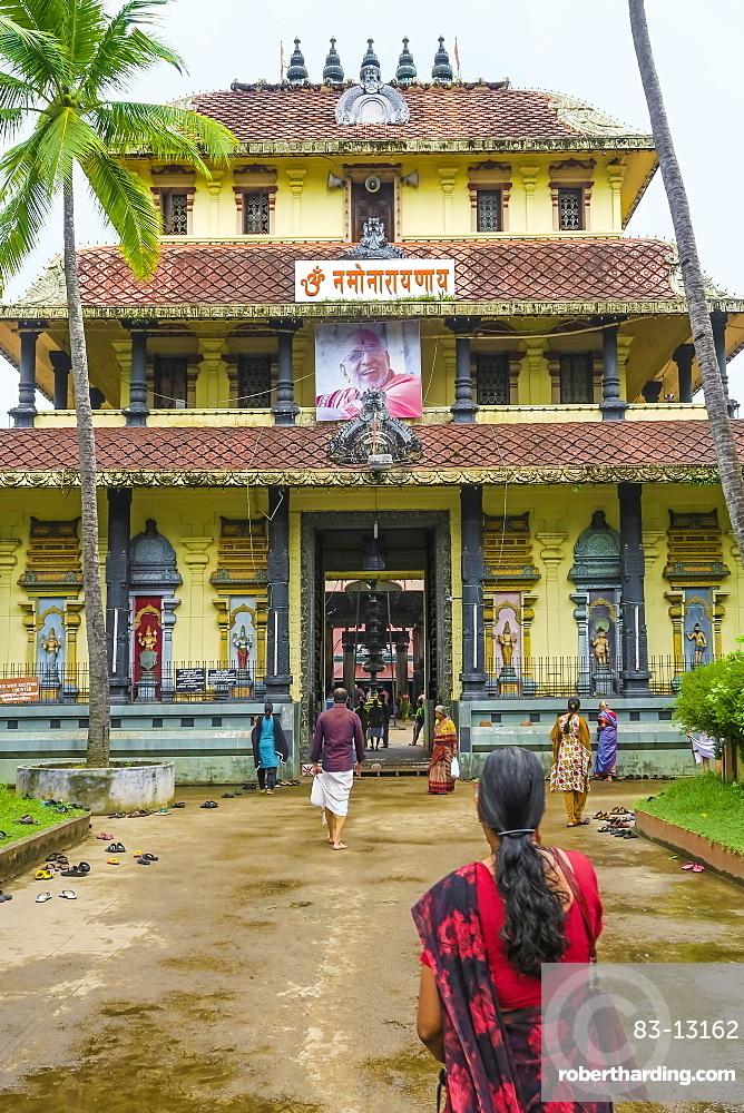 Tirumala Devaswom 16thC temple of the Gowda Saraswat Brahmins that worship Venkateswara; Cherlai, Kochi (Cochin), Kerala India