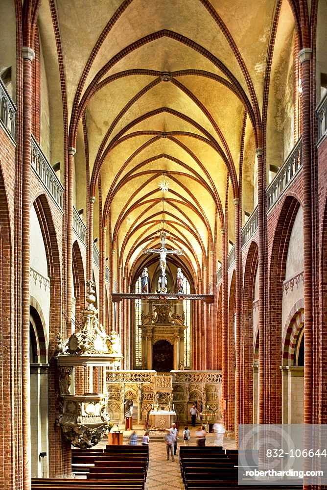 Interior view, cathedral, Havelberg, Saxony-Anhalt, Germany, Europe
