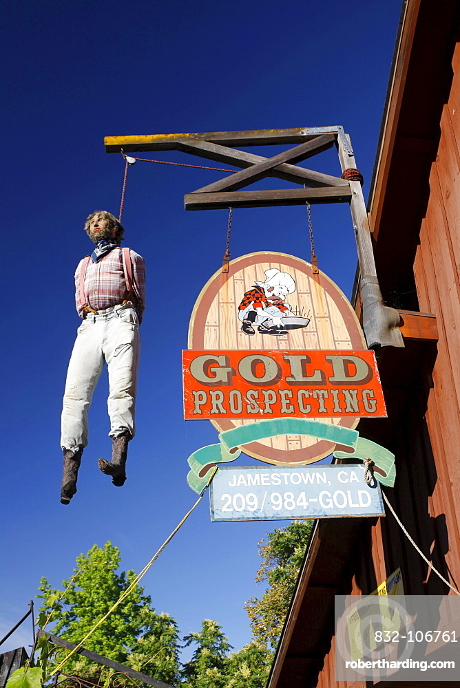 Historic gold mining town of Jamestown, California, USA