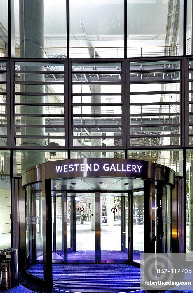 Westend Gallery in the Frankfurter Welle, Westend-Sued, Frankfurt am Main, Hesse, Germany, Europe