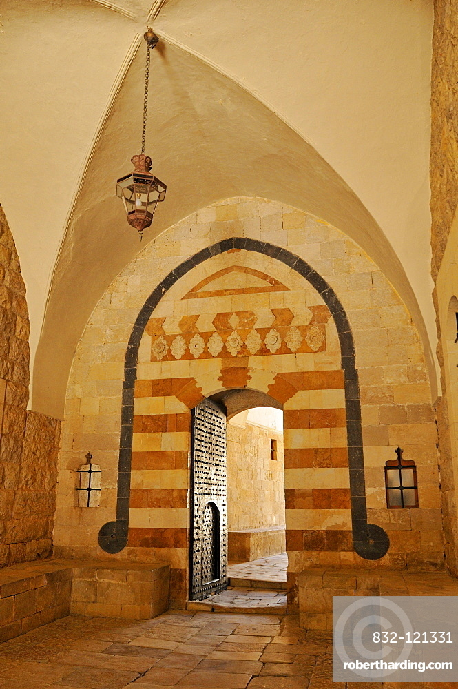 Entrance to historic Beit ed-Dine, Beiteddine Palace of Emir Bashir, Chouf, Lebanon, Middle East, West Asia
