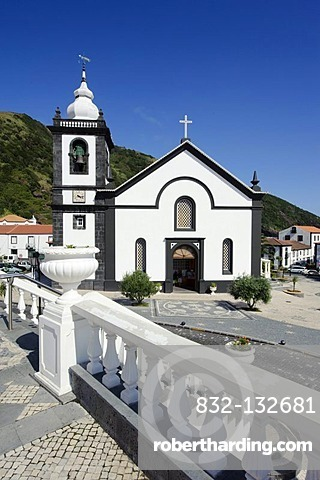Church in Velas on Sao Jorge island, Azores, Portugal