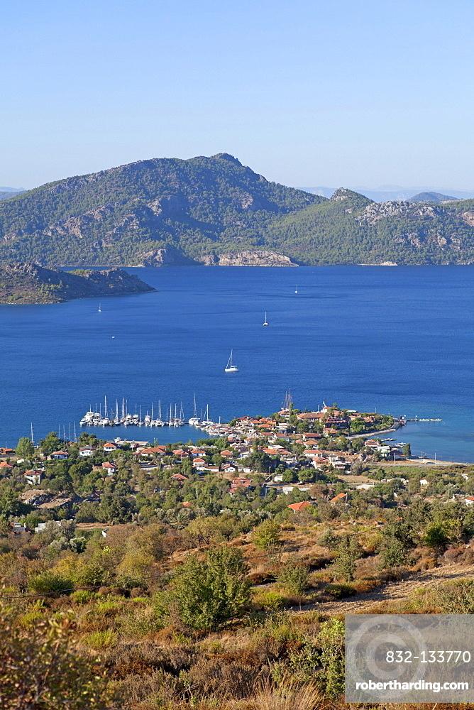 Selimiye, Bozburun Peninsula, Turkish Aegean, Turkey, Asia