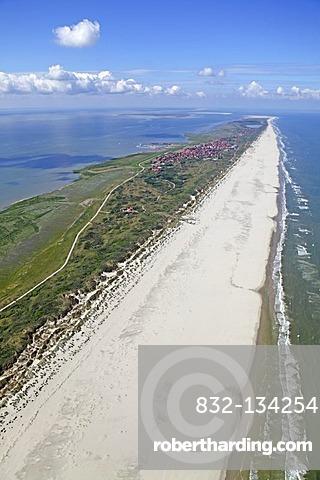 Aerial view, Juist Island, East Frisian Island, East Frisia, Lower Saxony, Germany, Europe