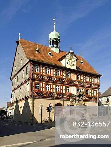 Town hall, Bath Staffelstein, Oberes Maintal area, Franconia, Bavaria, Germany, Europe