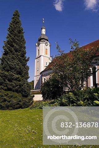 Parish Church of St. Gallus, Scheidegg im Allgaeu, Baden-Wuerttemberg, Germany, Europe