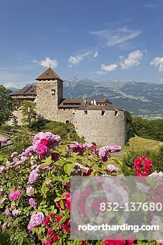 Vaduz Castle, residence of the dynasty and landmark of the capital Vaduz, Principality of Liechtenstein, Europe