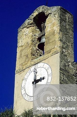 Belltower, Lourmarin, Luberon, Vaucluse, France, Europe