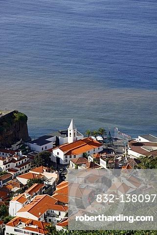 View of Camara de Lobos near Funchal, Madeira, Atlantic Ocean, Portugal, Europe