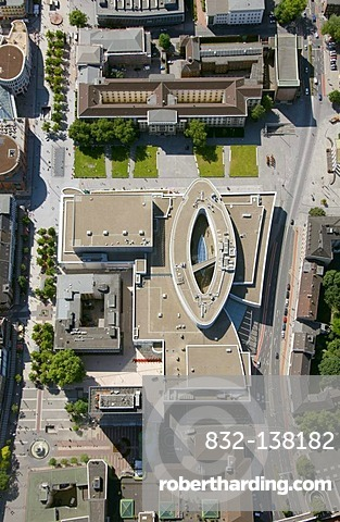 Aerial view, Forum shopping centre, Duisburg, Ruhr Area, North Rhine-Westphalia, Germany, Europe