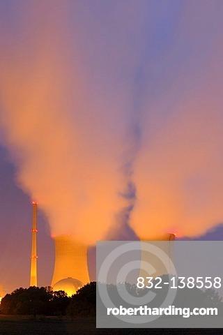 Nuclear power plant Schweinfurt-Grafenrheinfeld, Lower Franconia, Bavaria, Germany, Europe