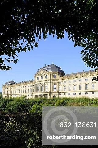 Wuerzburg Residenz, Wuerzburg, Lower Franconia, Bavaria, Germany, Europe