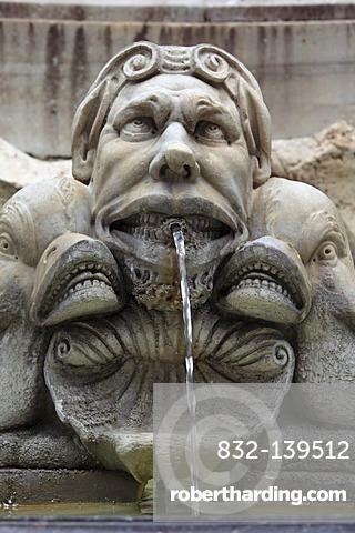 Fountain on Piazza della Rotonda, Rome, Italy, Europe