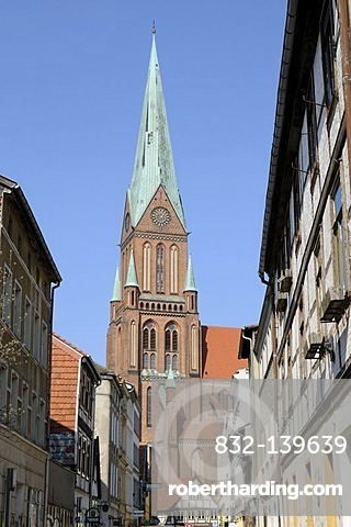Schwerin Cathedral, Mecklenburg-Western Pomerania, Germany, Europe