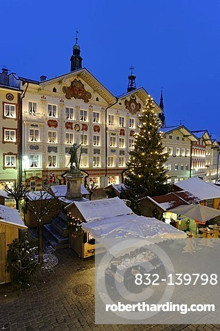 Christmas market, Bad Toelz, Upper Bavaria, Germany, Europe
