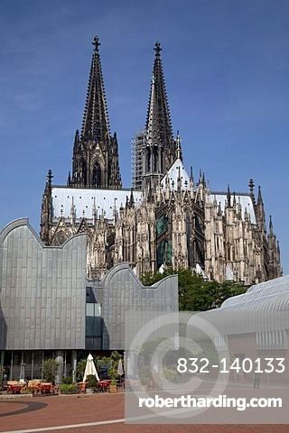 Cologne Cathedral and Museum Ludwig, Cologne, North Rhine-Westphalia, Germany, Europe