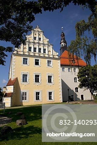 Schloss Luebben castle on Schlossinsel, castle island, Luebben, Spreewald, Spree Forest, Brandenburg, Germany, Europe